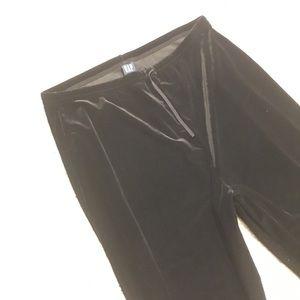 Gap velvet black drawstring pants